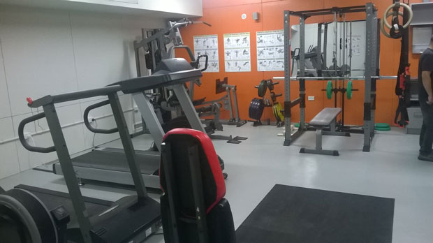 The well-used gym at the upgraded Hillary Field Centre.