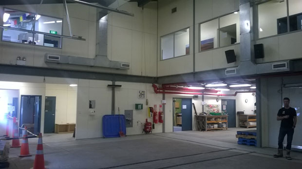 One of the cargo bays at the centre.