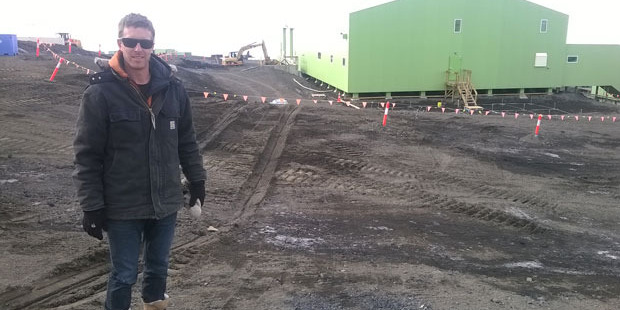 Scott Base project manager Simon Shelton, at the site of a $6.2 million upgrade of the base's Hillary Field Centre.