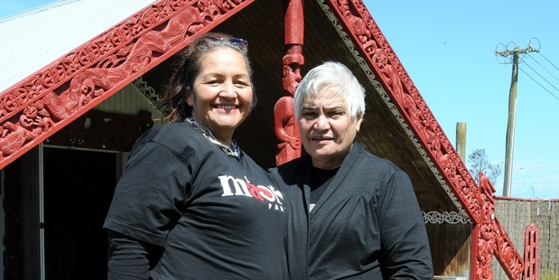 ON THE SPOT: Marama Fox (left) is pictured with Tariana Turia in November 2014, when Mrs Turia handed over the co-leadership of the Maori Party.PHOTO/FILE