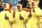 Fans attend the Wellington Sevens. Photo / Mark Mitchell