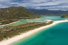 The privately owned beach is open for anyone to use, but a fundraiser fears that may not always be the case. Photo / Supplied