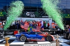 Scott Dixon and his co-drivers celebrate winning last year's 24 Hours of Daytona in a Riley-Ford EcoBoost Daytona Prototype. This year he is joined in the race by four other Kiwis.