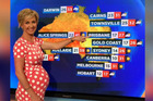 Pregnant Australian TV host Deb Knight is a host on the show Weekend Today. Photo/9News