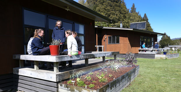 The student accomodation at the Kahunui Campus operated by St Cuthbert's College in the Waiotahe Valley in the Bay of Plenty. Photo / Alan Gibson