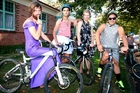 La Fiesta returns for its seventh year. It will include the popular Frocks On Bikes. Seen here enjoying last year's event are, from left, Tom Oskam, Ethan Aupapa, Matthew Johnson and Tom Johnson.  PHOTO/BEVAN CONLEY 010315WCBRCBIKE01