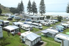 Mount Maunganui Holiday Park is one of the accommodation providers which is having to turn people away this long weekend. Photo / John Borren