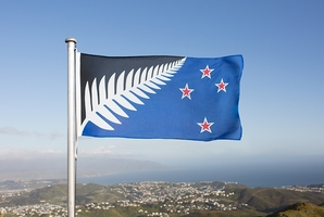 The Silver Fern flag.