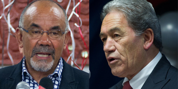 "Maori Party co-leader Te Ururoa Flavell (left) issued a press release today titled, ""The chameleon of New Zealand politics strikes again"". Photo / Stephen Parker"