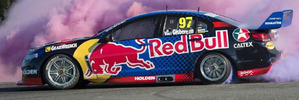 Shane Van Gisbergen with his 2016 Red Bull Racing Commodore.