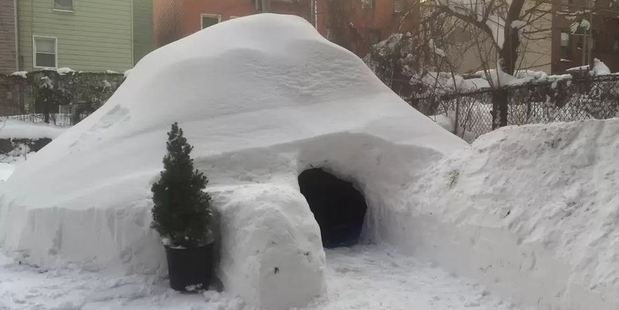 The $200-a-night igloo didn't look that out of place in the Brooklyn rental market. Photo / Airbnb