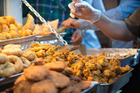 Samosas and pakoras, which are freshly deep fried in front of your eyes, are absolutely okay. Photo / iStock