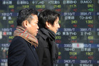 Japanese shares drove losses in the region. Photo / AP