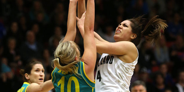 Kalani Purcell (right) is a certainty to be picked for the Tall Ferns side competing in an Olympic qualifying tournament. Photo /  Alan Gibson