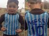 """Azim Ahmadi says his nephew Murtaza Ahmadi is the boy in the famous """"Messi"""" photo, right. Photo / Azim Ahmadi"""