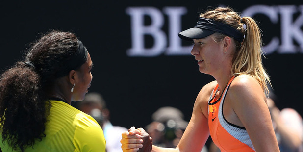Serena Williams beat Maria Sharapova for a 18th straight time yesterday. Photo / Getty