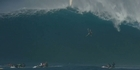 Wipeout: Surfer falls 40 feet off huge wave