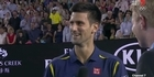 Djokovic to interviewer - 'I've had enough face-offs tonight'