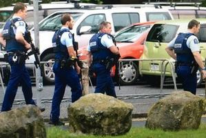 Police are at Dunedin High School. Photo: Craig Baxter/Otago Daily Times