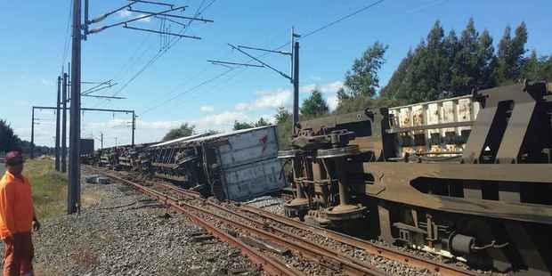No gas or dangerous goods were on board the train. Photo / Supplied by Iain Stables