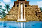 The Leap of Faith ends in a pool of sharks. Photo / atlantisbahamas.com