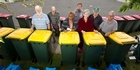 Watch: Disabled elderly struggling with their bins.