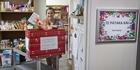 Watch: Kyra volunteering at Salvation Army foodbank