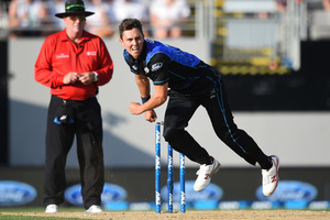 Trent Boult led the New Zealand attack in the Chappell-Hadlee series earlier in the year. Photo / photosport.nz