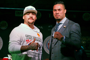 Andy Ruiz and Joseph Parker before their WBO world boxing heavyweight title fight. Photo / Photosport