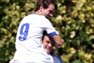 GOAL GETTERS: Facundo Barbero (on top) and Saul Halpin are showing the way to the net for Bay United. PHOTO/FILE