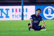 Auckland City's Fabrizio Tavano reacts after their loss to Kashima Antlers. Photo / AP