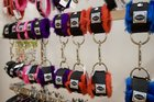 Fluffy handcuffs for sale inside a D.Vice store. Photo / File