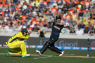 Black Caps captain Brendon McCullum in action against Australia at the Cricket World Cup. Photo / Brett Phibbs