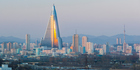 The Ryugyong Hotel dominates the skyline of Pyongyang, but has never officially opened. Photo / Getty Images