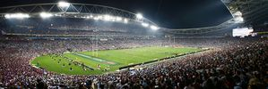 ANZ Stadium, host of the 2016 NRL Grand Final, is unavailable to host Bledisloe Cup matches between 2019-2022 while it undergoes a $780 million redevelopment. Photo / Getty Images