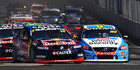 Jamie Whincup leads Scott McLaughlin at the Sydney 500. Photo / Getty Images