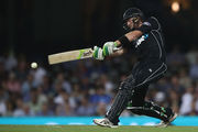 Martin Guptill of New Zealand bats during game one of the One Day International series between Australia and New Zealand. Photo / Getty