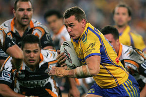 Chad Robinson while playing for the Eels. Photo / Getty