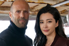 Jason Statham and Li Bingbing, the stars of sci-fi Shark film Meg that's been shot at various locations around Auckland over the past few months.