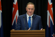 Prime Minister John Key announcing his decision to resign. Photo / Mark Mitchell