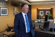 John Key in his office after announcing his decision to resign and stand-down from politics. Photo / Mark Mitchell