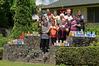 Pirirakau Hauora's Kaumatua Programme coordinator Mahia Wilson with a group of kaumatua who collected more than 200 cans for Tauranga Community Foodbank. Photo/George Novak