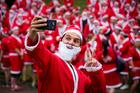 Smile for a Santa selfie