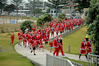 About 240 participants dressed as Santa Claus put their hats and beards on for the Great KidsCan Santa Run/Walk around the base track of Mauao. PHOTO/George Novak