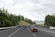 The Puhoi to Warkworth motorway extends 18.5km over difficult terrain from the Johnstone Hills tunnels just south of Puhoi to just north of Warkworth. Photo / NZTA