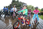 Tani Dahm was one of about 100 who was gifted a new bike for Christmas today. Photo/John Borren