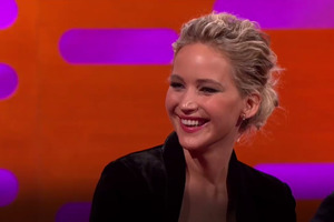 Jennifer Lawrence on the BBC television show Graham Norton caused controversy. Photo / via video