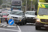 Three cars collided near Barkes Corner at Pyes Pa. Photo/John Borren