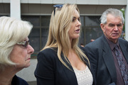 Quinton Winders' mother and father flank his sister Miranda, who read out the family statement. Photo / Stephen Parker