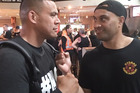 David Letele, aka Brown Buttabean, meets with Whanganui's Che Barlow in Auckland ahead of their opening bout on tonight's undercard of the Joseph Parker vs Andy Ruiz world title fight.